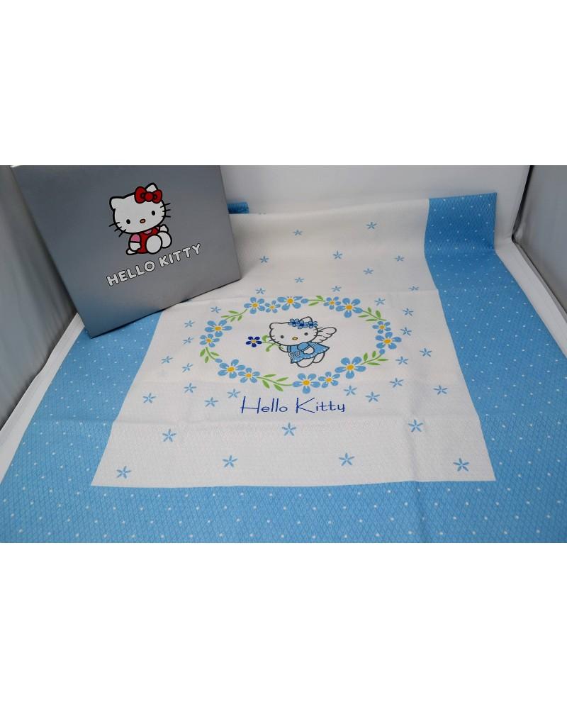 Copriletto Hello Kitty Gabel.Gabel Hello Kitty Flowers Angel Copriletto Lettino Sbarre Var Azzurro